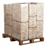 Holzstäbchen-Pflanzsäule, quadratisch, abgeru