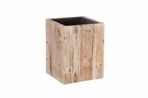Kistenholz- Pflanzsäule, quadratisch