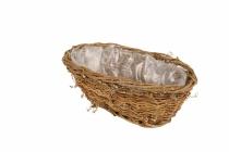 Reben-Pflanzschale mit Folie, oval