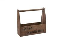 "Antikholz-""Herrenhandtasche"""