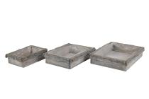 Rinden/Holz-Gesteckunterlage, rechteckig