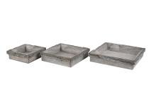 Rinden/Holz-Gesteckunterlage, quadratisch
