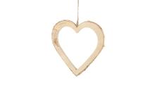 Birken-Herz mit Holzrand, offen