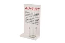 """Holz-""""Advent""""-Aufsteller, 1 Glas"""