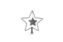 Metall-Sternaufsatz für Adventskranz