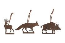 """Metallhänger """"Tiere des Waldes"""""""