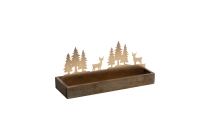 Metall/Holz-Gesteckunterlage