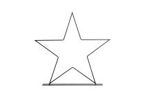 Metall-Stern auf Metallplatte