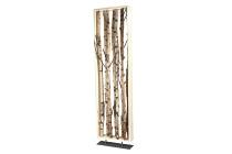 Holz-Rahmen auf Metallplatte