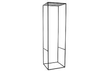 Vierkantmetall-Rahmensäule (20er)