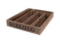 """Antikholz-""""Werkzeug""""-Besteckkiste"""