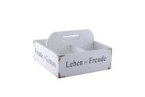 Antikholz-Kiste mit Griff