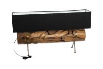 Teakbruchholz-Lampe, Rohrform