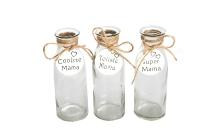 """Glas-Flasche mit Anhänger """"Mama"""""""
