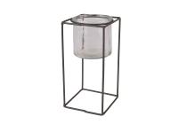 Glas/Metall-Ständer, quadratisch
