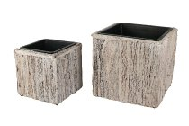 bark stripe-plater cube, S/2