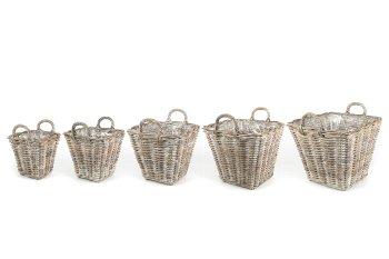 rattan cachepot, square