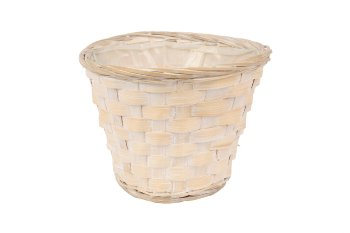 Bambussplitt-Übertopf