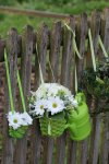 Bambussplitt-Übertopf, rund