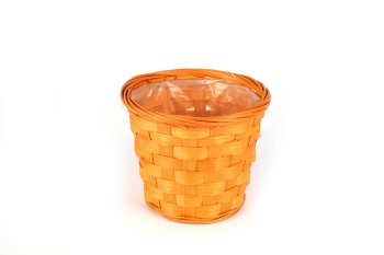 bamboo split cachepot, round