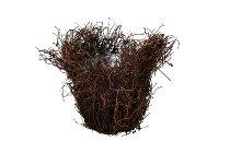 brown grass planter, 11x13cm