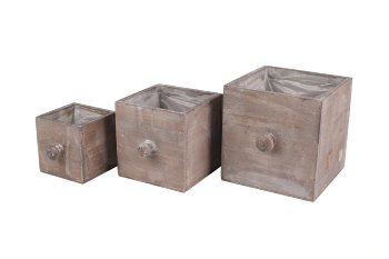 wooden planter drawer, square