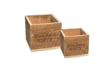 "wooden box ""GOURMET KISTE"""
