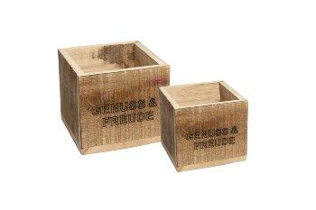 "wooden box ""GENUSS & FREUDE"""