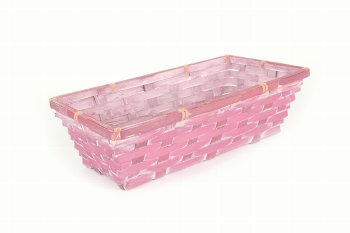 bamboo split basket, rectangular