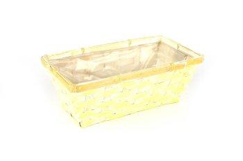 bamboo split basket, rectangular