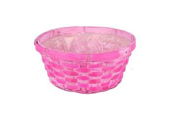 bamboo split basket, round