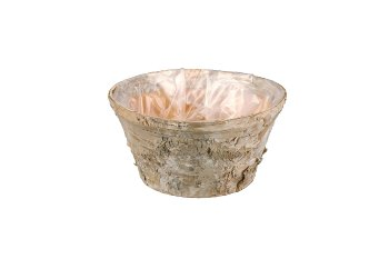 birch bark planter, round