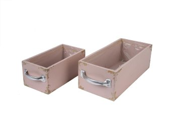 wooden planter drawer, rectangular