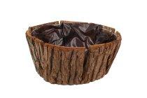bark planter,round,
