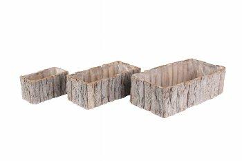 wooden stripe planter