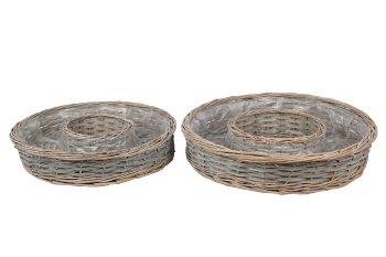 wooden splint/willow planter ring