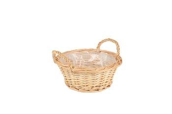 spilt willow basket w handle,round