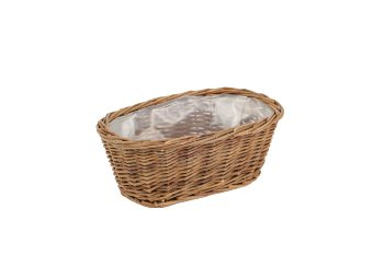 willow basket,unpeeled,oval