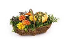 willow basket w handle, S/3