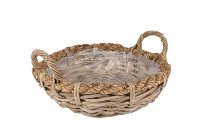 kubu rattan planter bowl with ope border