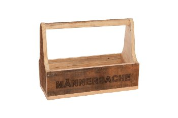 wooden box with handle
