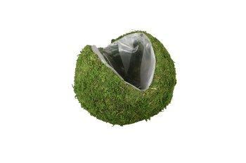 moss planter ball, V opening
