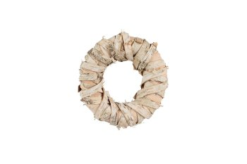 birch bark wreath, cross wound