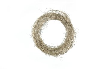 dark grass wreath,bleached