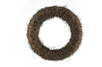 dark grass wreath