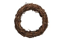 wooden bark wreath, thick
