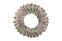 wooden splint wreath, rotated, thick