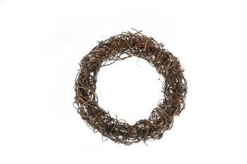 vine wreath, cross wound