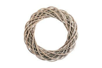 willow wreath, grey washed