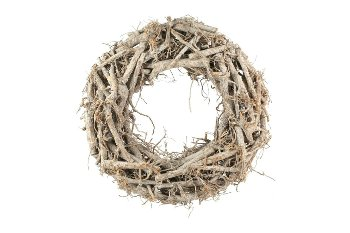 cotton root wreath, flat